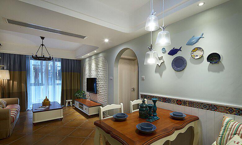 田园风格室内装修效果图-御雅园三居125平米-餐厅